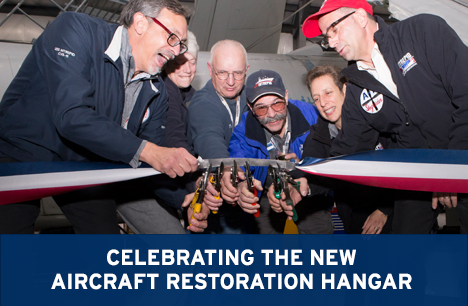 Title: Celebrating the New Aircraft Restoration Hangar