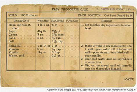 Navy Cake Recipe