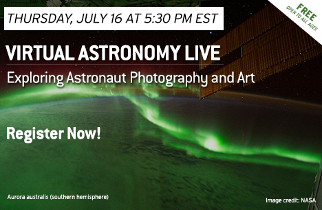 Virtual Astronomy Live on Thursday, July 16