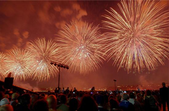 Intrepid July 4th Fireworks 2010