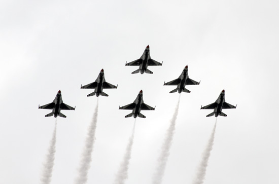 Thunderbirds Fly-over