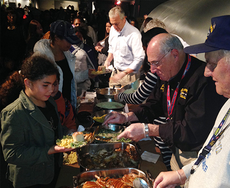The Intrepid Museum Hosts Annual Gift of Thanksgiving
