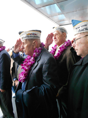 Veterans Observing Pearl Harbor Remembrance