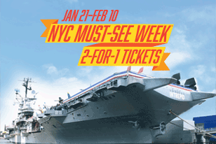 The Intrepid is once again taking part in NYC Must-See Week℠! From January 21 to February 10, enjoy 2-for-1 tickets to the Museum. Bring a friend for free, or treat the whole family for half the price. There's no better time to explore the ship, see the space shuttle and check out our new mixed-reality experiences in the Space Shuttle Pavilion!