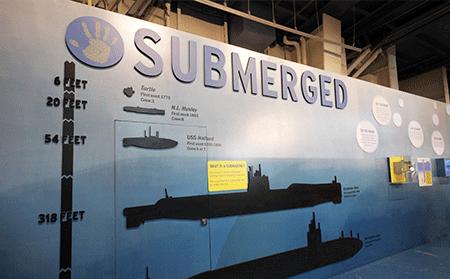 Submerged exhibition