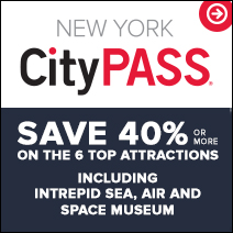 NY City & INtrepid, Save 42%