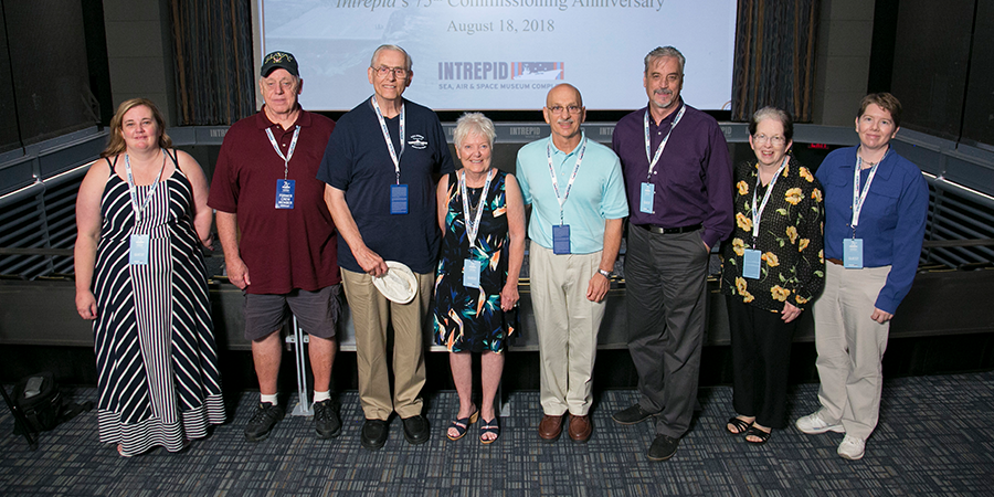 75th Commissioning Anniversary 2018 Former Crew Member Honorees and family members