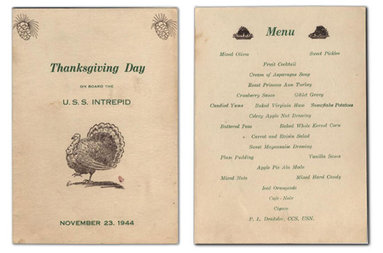 The christmas menu for the first class dining car on a for Traditional southern thanksgiving dinner menu